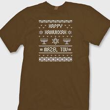 Happy Hanukkah Funny ugly sweater T-shirt Mazel Tov Holiday Party Tee Shirt