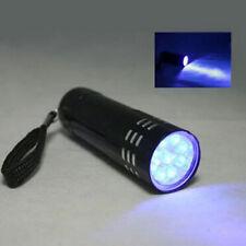 Lila LED-Licht Taschenlampe aus Aluminiumlegierung UV Ultra Handscheinwerfer