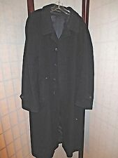 Valentino ITALY Men's Solid BlackWool Luxury Trench Coat 44 *GREAT* XL