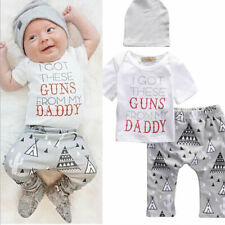 Newborn Baby Boys Tops Romper Bodysuit Jumpsuit Pants Cactus Outfits Clothes Set
