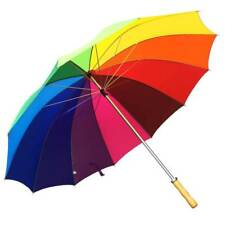 fb79548ac34aa Willow Tree Large 12 Rib Manual Rainbow Golf Umbrella
