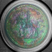 1973 CANADA SILVER DOLLAR RCMP PCGS SP68 ONLY 2 FINER WORLDWIDE UNC TONED (DR)