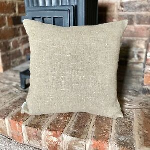 1143. Handmade Plain Rustic Stonewashed 100% Linen Cushion Cover. Various sizes