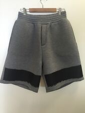 Kris Van Assche Neoprene Gray Black Stripe Drawstring Shorts $550 Sold Out M