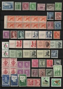 Australia Page of 45 Different MH / MNH - Includes Blocks, Pair Values to 1/-