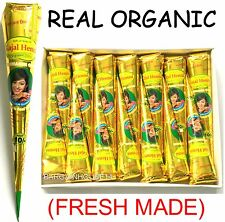 *ORGANIC HERBAL HENNA * DARK BROWN Henna BRIDAL Mehndi Cones *NO CHEMICALS* UK