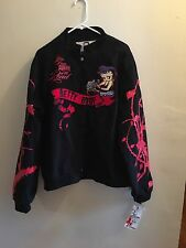 BETTY BOOP BIKER JACKET Size 3 XL Black & Red. NEW WITH TAGS RUNS SMALL LIKE 1X