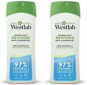 Westlab Epsom Salt Reviving Shower Wash 400ml (Pack of 2)