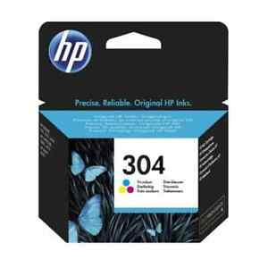 Genuine HP 304 Colour Ink Cartridge Pack for HP Deskjet 2620