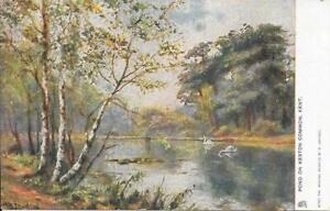Pond on Keston Common, Kent - Vintage - Unposted Postcard