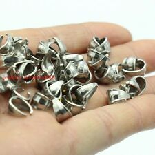 100x Top Quality Stainless Steel Pendant Pinch Clip Clasp Bail Connector finding