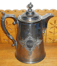Antique Silverplate Water Pitcher - Middletown Plate Co. - Monogrammed MLM