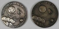 Apollo 11 (XI) Large Sized Silver and Bronze Medals 3.1 ozt of .999 Pure Space