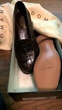 Johnston & Murphy mens shoes genuine crocodile brown loafer 10.5 D - NEW IN BOX