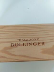 Champagne Bollinger Wooden Bottle Box