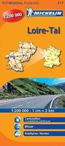 Michelin Loiretal: Straßen- und Tourismuskarte 1:200.000