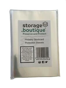 storage.boutique Philately Stockcard Protective Sleeves, for Stamp Collecting
