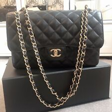 0ecfe04556a5 Chanel Classic Jumbo Double Flap Black Caviar with Gold Hardware 100%  Authentic
