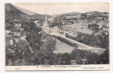 lourdes  la basilique et l'esplanade