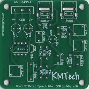 Human Speech Bandpass Filter 300Hz - 3000 Hz PCB Only DIY