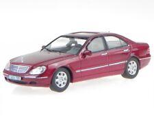 Mercedes W220 S 500 S-clase 2000 rojo coche en miniatura MOC106 IXO 1:43