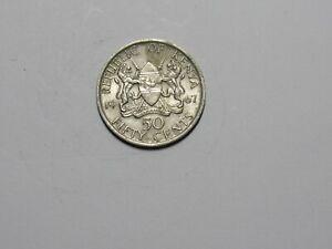 Old Kenya Coin - 1967 50 Cents - Circulated
