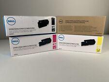 Genuine Dell 810WH CT202047 WM 2JC XMX5D Set for 1250/1350/1355/C1760/C1765 CMYK