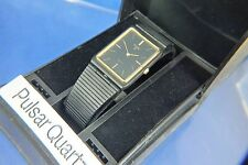 Vintage Retro Pulsar Quartz Watch Circa 1980s New Old Stock NOS + Original Box