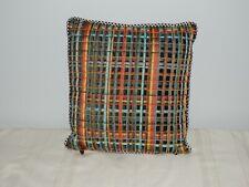 Mackenzie Childs Inverness beaded decorative throw pillow beaded