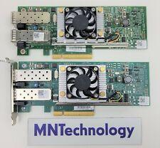 Lot of 2 - Dell Broadcom | 0Y40PH | Dual Port 10GB SFP+ PCIe Network Card