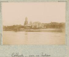 Allemagne, Andernach, vue sur la ville prise du bateau  vintage albumen print,