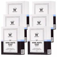 Wink White Gluta Pure Soap Facial Body Beauty Skin Whitening Lightening x6