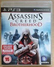 Sony-Assassins Creed-BROTHERHOOD-Action-Playstation 3-Game-PS3-PAL-Mint-15+