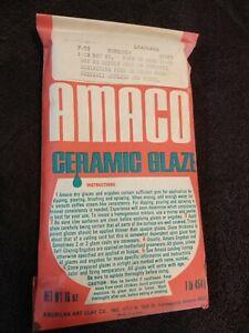 Amaco Ceramic Glaze Powder 16 oz Gloss Leadless Lead Free F-52 Burgundy