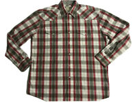 Roper Mens Size L Red Plaid Pearl Snap Long Sleeve Western Shirt