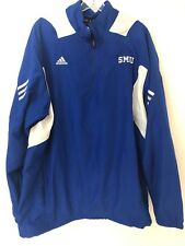 3344505d9 Large Blue SMU Mustangs ADIDAS Mens Poly Windbreaker Jacket Scorch 429