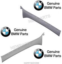 BMW e46 Trim Panel windshield post A Pillar light grey left / right set genuine