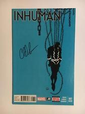 Inhuman #7 Signed By Charles Soule 2Nd Print Black Bolt Maximus Medusa