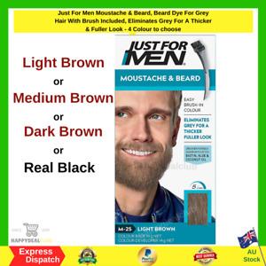 Just For Men Moustache & Beard, Beard Dye For Grey Hair With Brush Included NEW