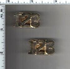 123rd Precinct Police Collar Brass Set - from the New York City/New Jersey Area