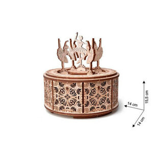 Wood Trick - Model Building Dancing Ballerina Music Box with 48 Pieces