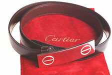 Cartier Tournant Ceinture Love Ceinture Strap ceintiure cuir Palladium leather belt Top