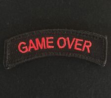GAME OVER ROCKER TAB USA ARMY TACTICAL MILITARY MORALE BLACK OPS RED HOOK PATCH
