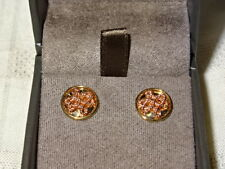Welsh Clogau 9ct Yellow & Rose Gold Love Knot Stud Earrings RRP £300