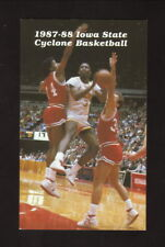 Iowa State Cyclones--1987-88 Basketball Pocket Schedule--Kent Feeds