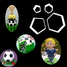 4 Pcs/set Fondant Cake Mold Print Plunger Soccer Shape Football Cookie Cutter S