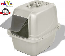 Cat Litter Box Odor Door Enclosed Pan Size Large Covered Kitty House Multi-New