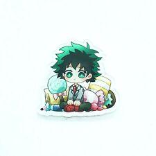 "Midoriya Izuku Candy MHA BNHA Acadamia Pin Hero Anime Acrylic 1.5"" Charm 1089"