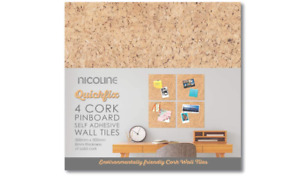 Adhesive Tiles 8mm Pinboard Wall Self Cork Thick Nicoline Quickfix Pack