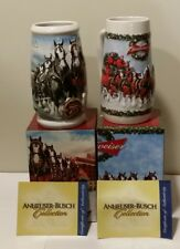 2008 and 2009 Anheuser-Bush Budweiser Holiday Steins